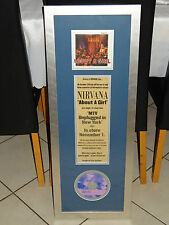 NIRVANA - ABOUT A GIRL AUSTRALIAN LIMITED EDITION CD SINGLE NEWSPAPER AD FRAMED