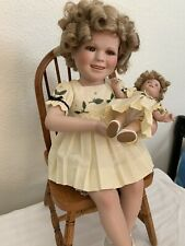 Shirley Temple Porcelain Doll-Danbury Mint-Shirley and Her Doll