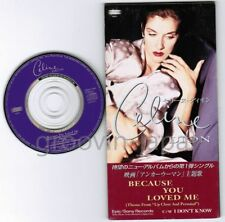 "CELINE DION Because You Loved Me JAPAN 3"" CD SINGLE ESDA7165 Unsnapped Free S&H"
