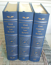 """""""Great American Law Reviews"""" - 3 Vols. - Legal Classics Library Leather Ed."""