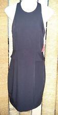 ASOS BNWT Black Draped Back Sleeveless Dress Size 10