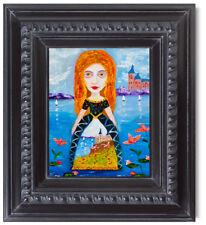 In her Dream Natasha Petrosova Original Oil Painting Pop Surrealism
