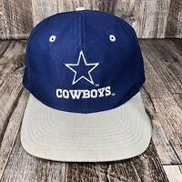 Vintage Logo 7 Dallas Cowboys Hat NFL Football Snapback Blue VTG 90s Cap OSFM
