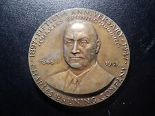50TH ANNIVERSARY CHARLES BRUNING COMPANY COMMEMORATIVE BRASS MEDAL! XX338NXX