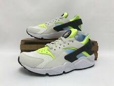 Nike Huarache Run Running Shoes White Volt Teal 318429-107 Men's Size 6 NEW