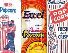 3 Excel Premium Delicious Popcorn VTG Original Country Store Movie Pop Corn Bags