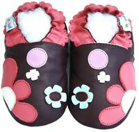 Littleoneshoes(Jinwood) Soft Sole Leather Baby FlowerpatchPurple Shoes 18-24M