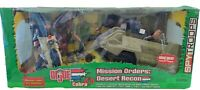GI Joe Mission Orders: Desert Recon 2 Vehicles & 4 12 inch figures