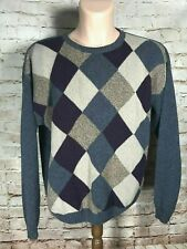 Liberty Sweaters Men's Size LG Made in USA  Sweater Argyle Pattern Vintage
