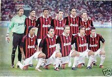 AC MILAN 2010 ASIAN SOCCER POSTER - Team Members on Pitch,Silva,Ronaldinho,Villa