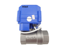 "motorized ball valve DN25 (G1"", reduce port),manual switch,2 way,Stainless Steel"