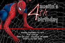 Spiderman Custom Designed Birthday Invitation - With or Without Photo