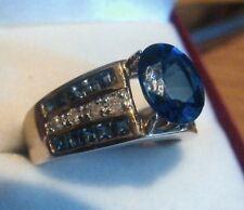 14KT YG $1980 DIAMOND & SAPPHIRE SEMI MOUNT RING NWT