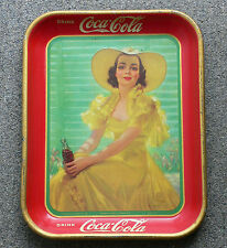 Rare Canadian 1938 Coca-Cola COKE serving tray FREE SHIPPING!