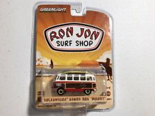 GreenLight Ron Jon Surf Shop VW Volkswagen Samba Bus Woody/Woodie