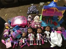 Huge Lot Of Doc Mcstuffins Toys Dollhouse RC Car Dolls Etc