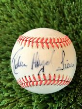 RUBEN SIERRA FULL NAME SIGNED AMERICAN LEAGUE BASEBALL RANGERS YANKEES A's
