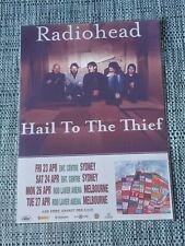 RADIOHEAD - 2004 AUSTRALIA Tour - Laminated Promo Tour Poster  HAIL TO THE THIEF