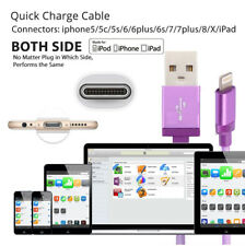 1/ 2/3M USB Cable Heavy Duty for Apple Iphone 7 6 5 Charger Charging Cord