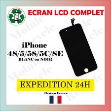 ECRAN LCD COMPLET iPHONE 4S/5/5S/5C/SE // BLANC OU NOIR // VENDEUR PRO FRANCAIS