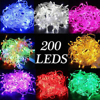 200 LEDs Christmas Tree Fairy String Party Lights Lamp Xmas Waterproof