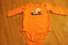 Carters 6 Months Long-Sleeve : First Halloween Fall One-Piece Undershirt Orange