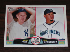 2013 Topps Heritage Then and Now Whitey Ford Felix Hernandez #TN-FH