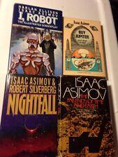 ISAAC ASIMOV 4 Sci Fi Lot Hard Cover NIGHTFALL I, ROBOT BUY JUPITER + Omnibus!