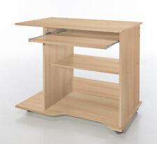 Wilmes: PC-Tisch auf Rollen - Schreibtisch Computertisch Bürotisch - Buche Dekor