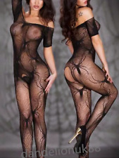Sexy seductive lingerie spider crotchless bodystocking bodysuit nightwear