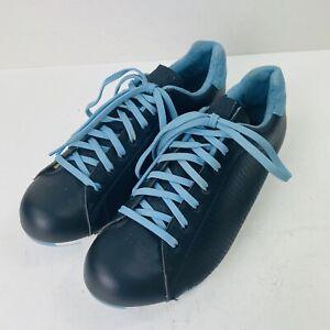 Giro Civila Womens Bike Shoes 38 6.5 Black Blue 2-Bolt Cycling Road Spin SPD
