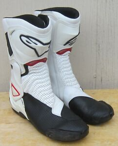 ALPINESTARS  S-MX 6 VENTED MOTORCYCLE BOOTS size 49 (U.S. 13.5) WHITE