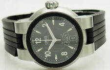 Mens ORIS TT1 7523-44 Automatic Day/Date S. Steel Silicone Swiss Made 37mm Watch
