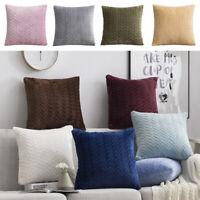 Living Room Pillow Cover Home Velvet Square Cushion Cover Warm Decor