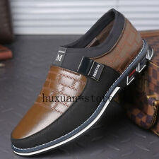 2020 Leather Men's Casual Shoes Loafers Breathable Non-slip Sneakers Comfortable