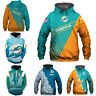Miami Dolphins Hoodies 3D Print Sweatshirts Football Hooded Pullover Jacket Coat