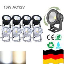 1-4 STÜCK 10W 12V LED Fluter Strahler Scheinwerfer 12 Volt Außen Flutlicht NEU