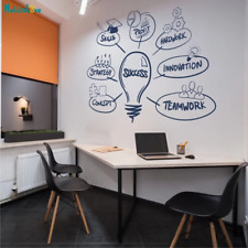 Office Inspirational Success Quote Wall Sticker Vinyl Decor Removable Art Mural