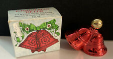 Avon 1974-1975 Christmas Bells To A Wild Rose Cologne In Box