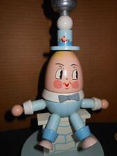 Vintage~Wooden~Humpty Dumpty Nursery Child's Lamp~ Nursery Plastics Inc