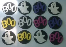 12 edible HALLOWEEN SCARY GHOST BOO cake topper decoration CUPCAKE FRIDAY 13TH