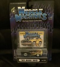 Muscle Machines-1969 Ford Mustang Boss 302 With Flames And Card-Moc