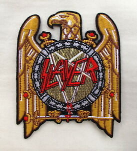 SLAYER   Embroidered Iron On Sew On Patch