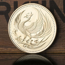 Japan Golden Phoenix Chrysanthemum Commemorative Coin Crafts Gift