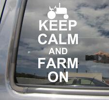 Keep Calm And Farm On - Farmer Farming - Car Window Vinyl Decal Sticker 03012