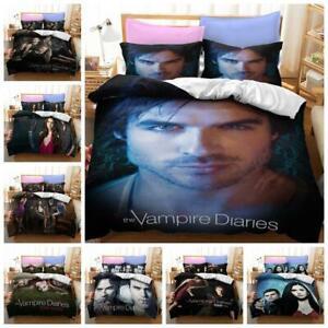 The Vampire Diaries Quilt Duvet Cover 2/3Pcs Bedding Set Single Double King Size