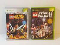 LEGO Star Wars 1 + 2 Prequel + Original Trilogy Microsoft Xbox (Lot of 2 Games)