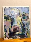New Large Painting Abstract Impressionist COW  by Robert Joyner Virginia Artist