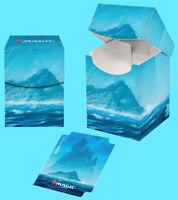 ULTRA PRO MAGIC THE GATHERING UNSTABLE LANDS ISLAND 100+ DECK BOX w/divider mtg