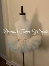 Girls Beige And Turquoise Tutu Size 12-18 Months, Photo Prop Tutu, Tutu